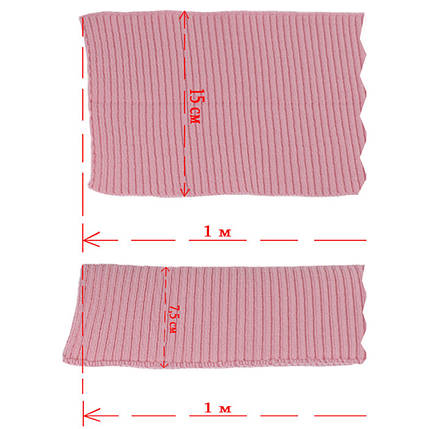 Резинка манжетная довяз, розовая, фото 2
