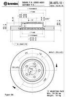Тормозной диск передний Brembo 09.A870.11 для Subaru Outback (Bm, Br) 09.2009+