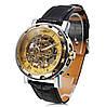 Часы мужские наручные Winner Skeleton gold, фото 2