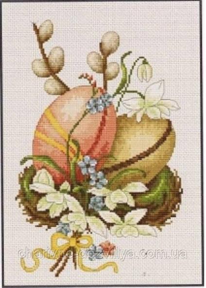"""Набор для вышивания крестиком """"Пасхальные яйца """""""