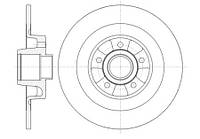 Тормозной диск задний Roadhouse RH 6999.00 для Renault Espace Iv (Jk0/1) 01.2006+