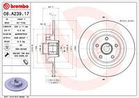 Тормозной диск задний Brembo 08.A239.17 для Renault Espace Iv (Jk0/1) 01.2006+