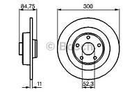 Тормозной диск задний Bosch 986479083 для Renault Espace Iv (Jk0/1) 01.2006+