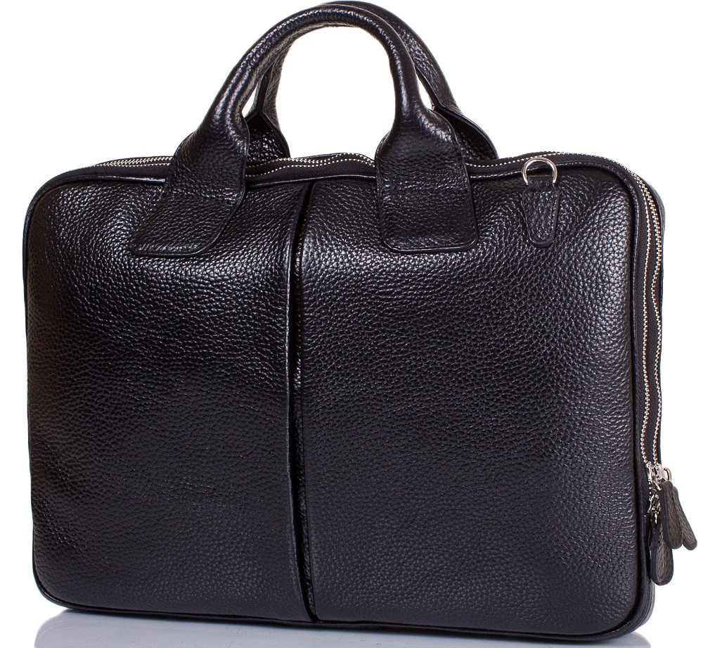 74b20f6f6b59 Кожаный мужской портфель DESISAN SHI052-011-2FL черный — только ...