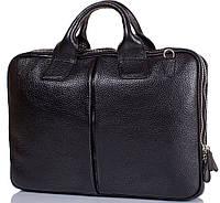 Кожаный мужской портфель Desisan черный