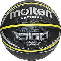 Мяч баскетбольный резиновый №7 MOLTEN (резина, бутил, черный)