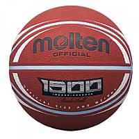 Мяч баскетбольный резиновый №7 MOLTEN (резина, бутил, коричневый)