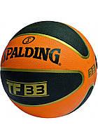 Мяч баскетбольный резиновый №7 SPALDING(резина, бутил)