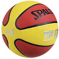 Мяч баскетбольный резиновый №7 SPALDING (резина, бутил, красный-желтый)