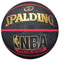 Мяч баскетбольный резиновый №7 SPALDING HIGHLIGHT RED Outdoor (резина, бутил, черно-красный)
