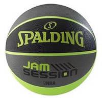 Мяч баскетбольный резиновый №7 SPALDING JAM SESSION (резина, бутил, зеленый)