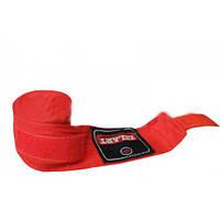 Бинты боксерские (2шт) Х-б ZEL ZB-3620-3(R) (l-3м, красный)