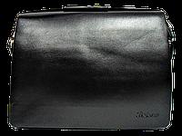 Стильная мужская сумка черного цвета CМ-47, фото 1