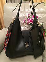 Стильная женская плечевая сумка LOUIS VUITTON материал эко-кожа со съемным ремешком и кошельком