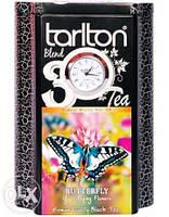 Черный чай Часы Бабочка от Тарлтон в жестяной банке 200 г