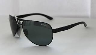 Солнцезащитные очки-авиаторы в черном цвете