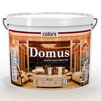 Краска с воском Domus interior COLORS для стен содержит воск, 9л.