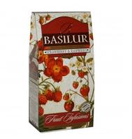 Чай Клубника и Малина от Basilur в картонной упаковке 100 г