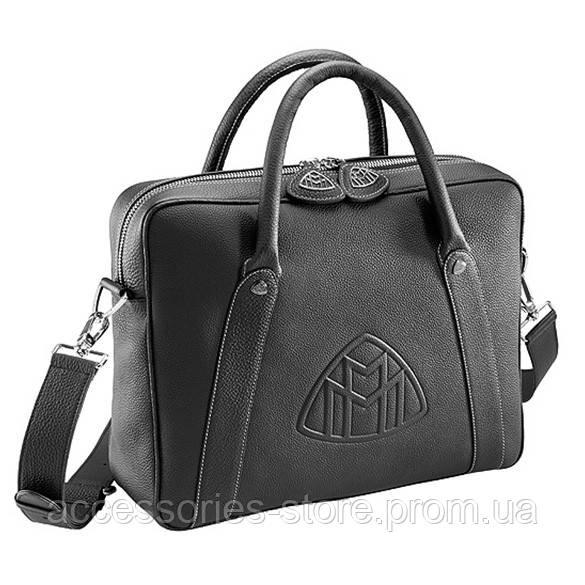 Кожаная дорожная сумка Mercedes-Maybach Travel Leather Bag, Unisex, Black