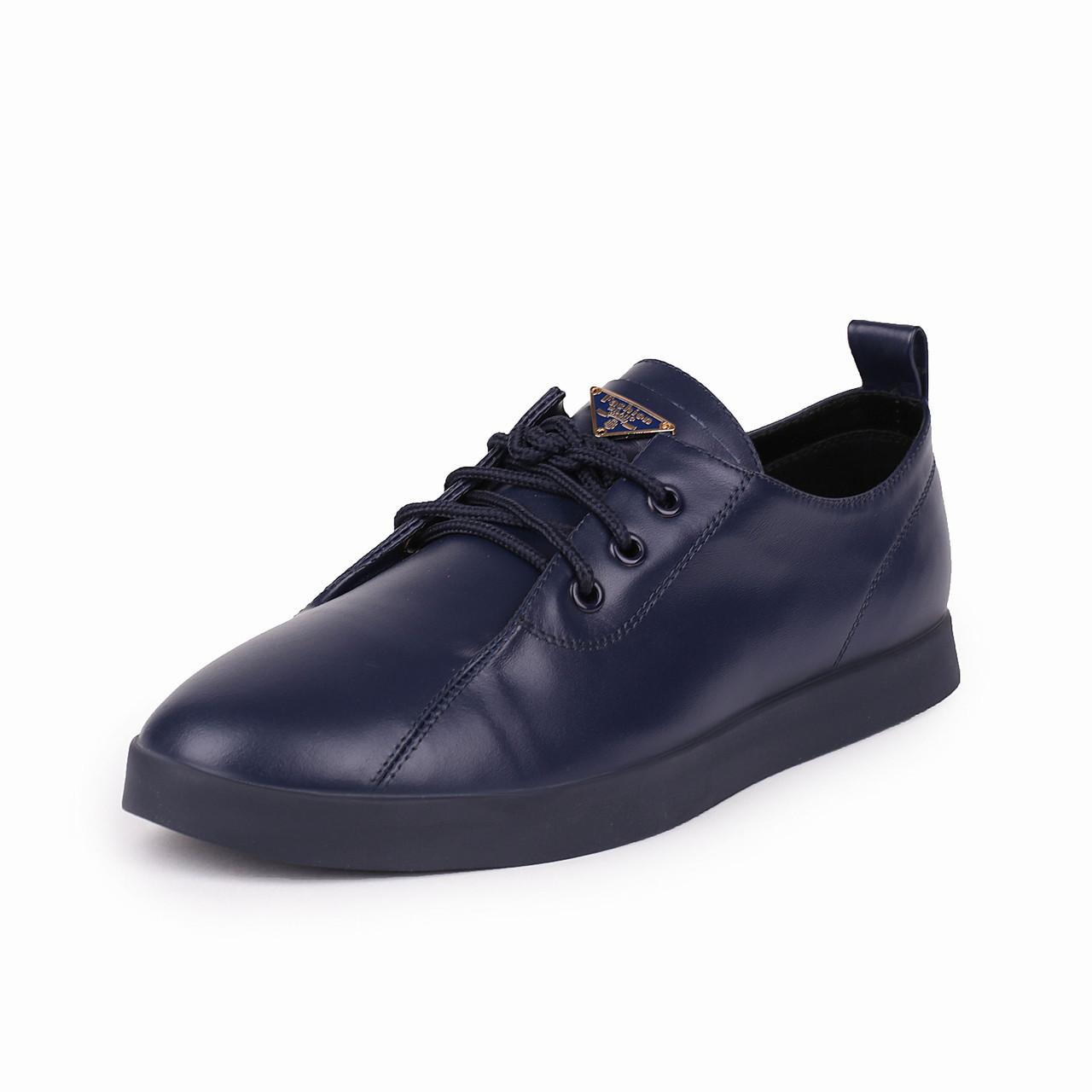 Женские синие кожаные туфли Like Show скидка