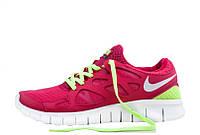Кроссовки женские беговые Nike Free Run Plus 2 (в стиле найк фри ран) красные
