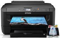 Принтер Epson WorkForce WF-7110 ( формат А3+) с СНПЧ + 4х100 мл сублимационные чернила InkTec