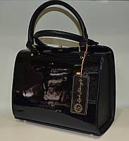 """Женская лаковая сумка  """"LUCK SHERRYS """" синий омбре"""