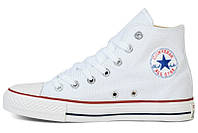 Конверс высокие белые кеды Converse High White All Star Chuck Taylor подростковые/женские, фото 1