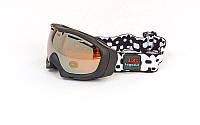 Очки горнолыжные (акрил, пластик, PL, двойные линзы, антифог)