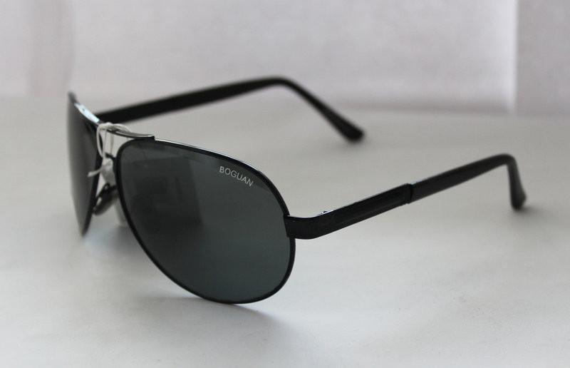 Мужские солнцезащитные очки-авиаторы с широкой прямоугольной дужкой