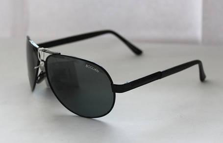 Мужские солнцезащитные очки-авиаторы с широкой прямоугольной дужкой, фото 2