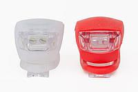 Комплект фонарей для велосипеда прорезиненные на застёжке. Комплект ліхтарів для велосипеда