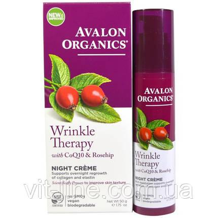 Avalon Organics, CoQ10 Repair, ночной крем против морщин  (50 г), фото 2