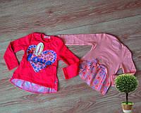 Детская кофта туника для девочки 1-4 года