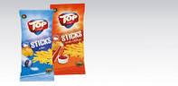 Снеки Top Chips Sticks в ассортименте 200 г (Польша).