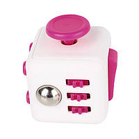 Фиджет Куб Fidget-Cube (антистресс) белый/розовый