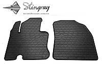 Резиновые коврики Stingray Стингрей Daihatsu Terios 2006- Комплект из 2-х ковриков Черный в салон. Доставка по всей Украине. Оплата при получении