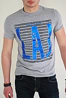 Мужская футболка серая с рисунком lambretta