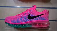 Женские кроссовки Nike air max flyknit розовые