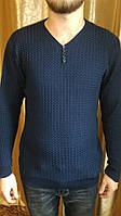 Модный весенний  мужской свитер в рубчик