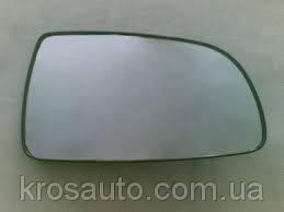 Зеркало наружное - стекло Авео T250 / Aveo правое без подогрева 96800778