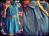 Джинсовое  платье. Платья. Магазин одежда. Одежда интернет. Женская одежда.
