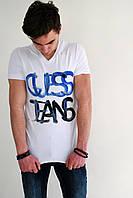 Мужская футболка белая с рисунком Guess