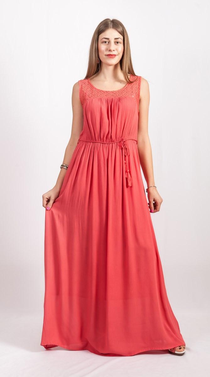 Платье женское кораллового цвета