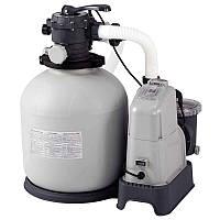 Песочный фильтр-хлорогенератор Intex 28680 Saltwater System 8300 л/ч