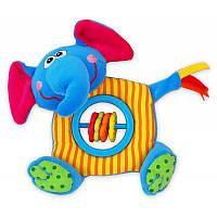 Погремушка плюшевая Baby Mix TE-9898-D1 Слоник blue