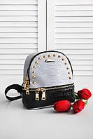 Женский городской рюкзак серого цвета цвета 8267