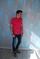 Мужская футболка поло  малиновая Calvin Klein