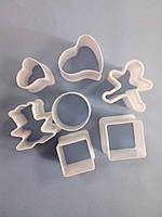 Вырубки для мастики и печенья 7 шт. Ассорти 3шт.(код 02653)