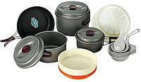 Набор туристической посуды Hard 56 KSK-WH56, анодированный алюминий, мягкий чехол, вес 1,5 кг